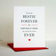 Steel Petal Press Besties Forever Card