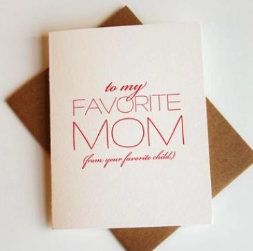 Steel Petal Press Favorite Mom Mother's Day Card