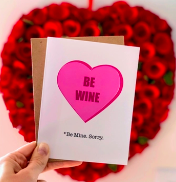 Wild Card Creations Be Wine Valentine's Day Card