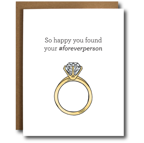 The Card Bureau Forever Person Engagement Card