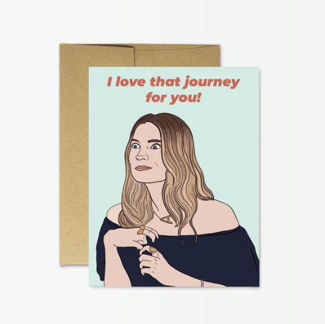 Party Mountain Paper Alexis Love that Journey Card