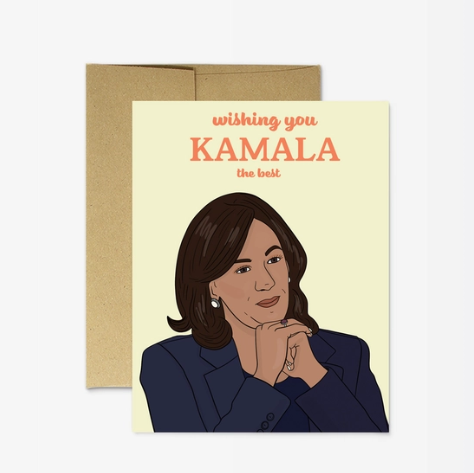 Party Mountain Paper Kamala the Best Card