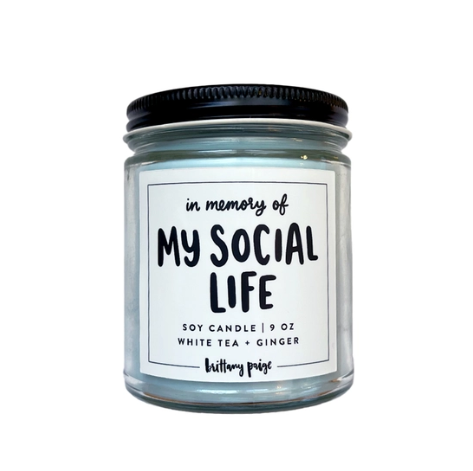 Brittany Paige In Memory of My Social Life Candle