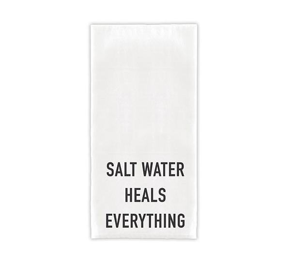 Creative Brands Salt Water Heals Everyting Tea Towel