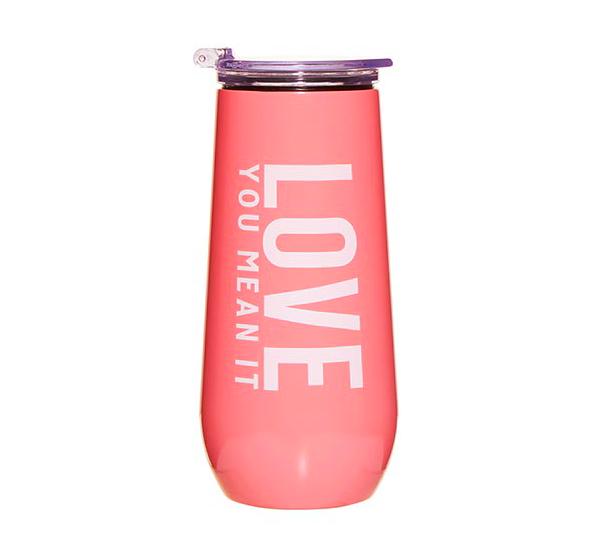 Creative Brands 12 oz Champagne Tumbler - Love You, Mean It