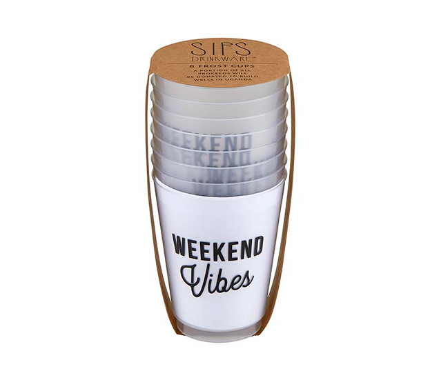 Creative Brands Frost Cups - Weekend Vibes