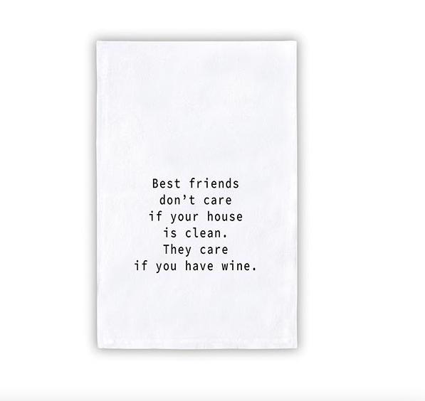 Creative Brands Best Friends Wine Tea Towel