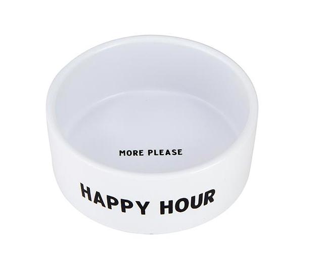 Creative Brands Ceramic Pet Bowl - Happy Hour