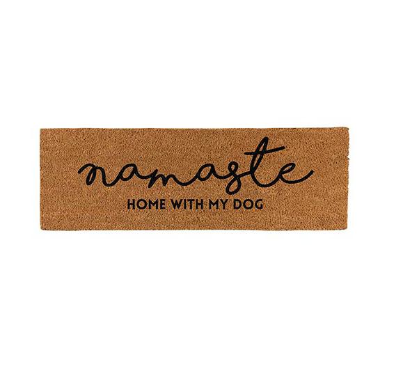 Creative Brands Door Mat - Namaste Home With My Dog