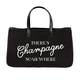 Creative Brands Canvas Tote - There's Champagne Somewhere