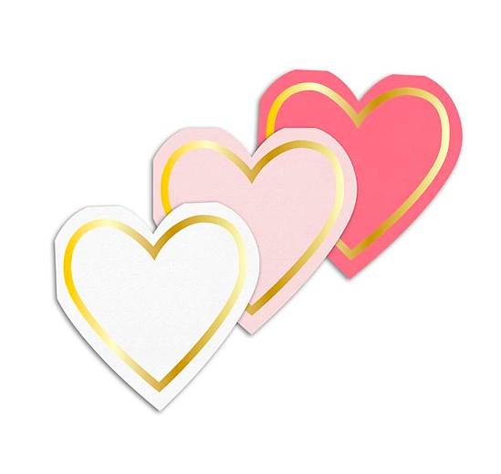 Creative Brands Cocktail Napkins - Hearts