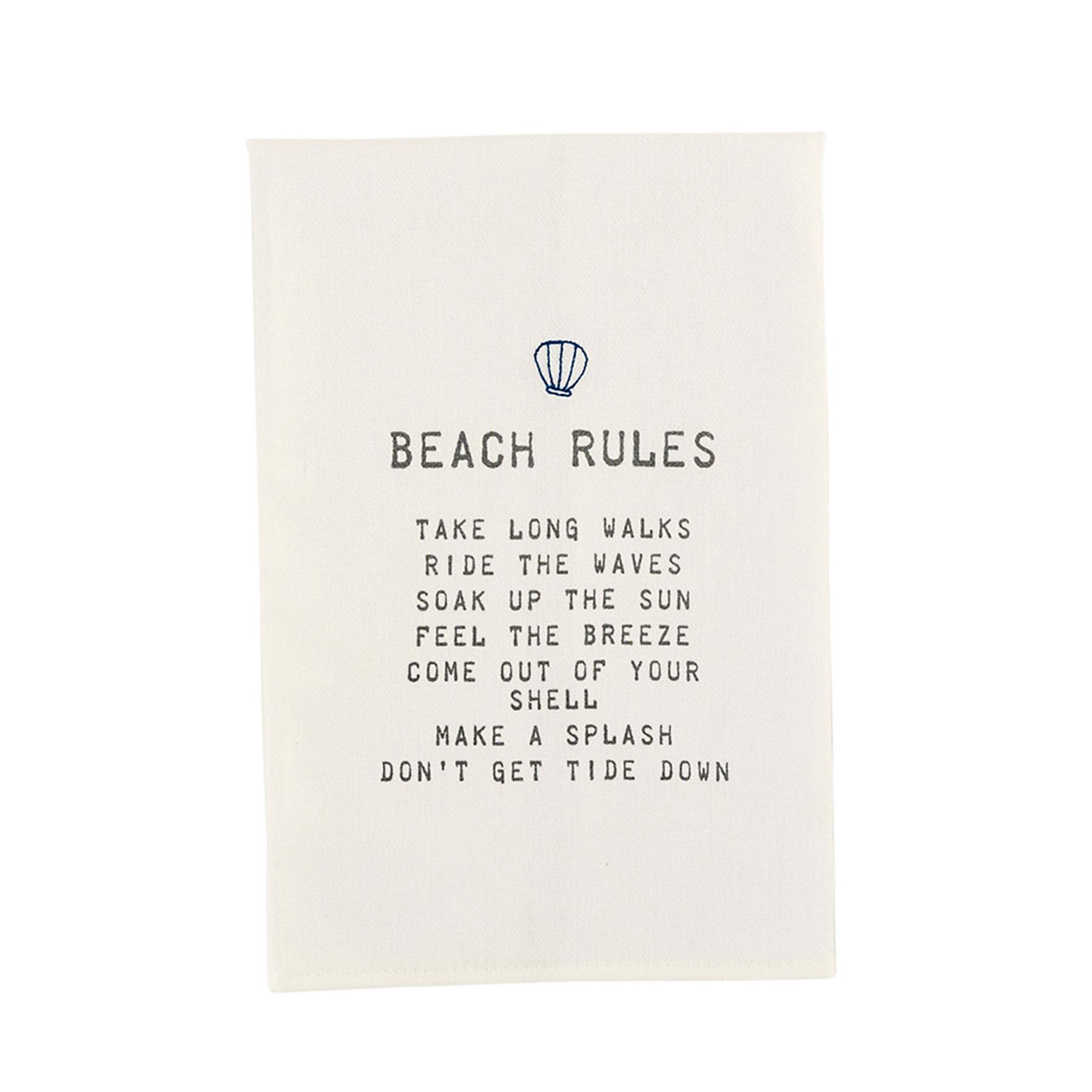 Mud Pie BEACH RULES TOWEL