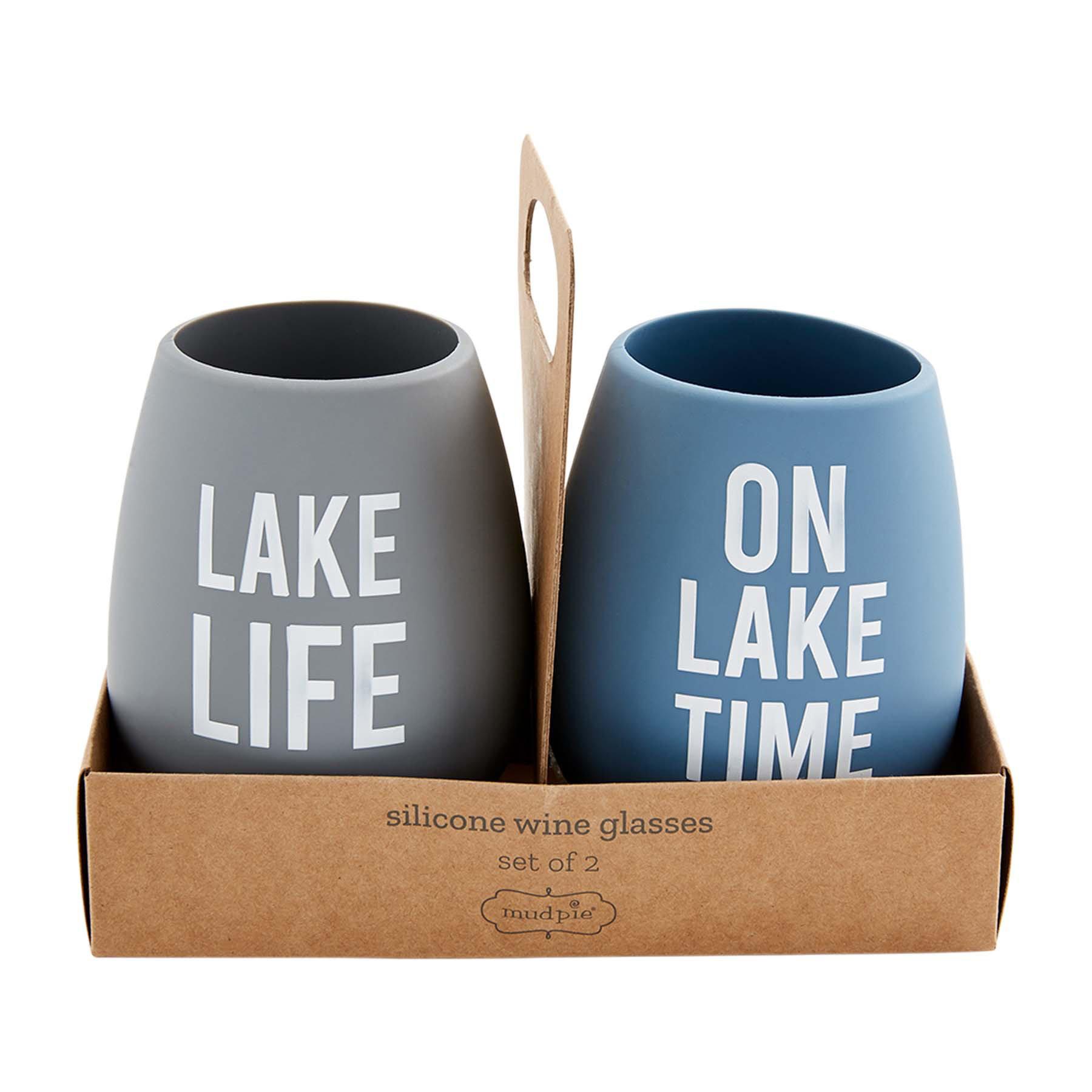 Mud Pie LAKE TIME SILICONE GLASSES