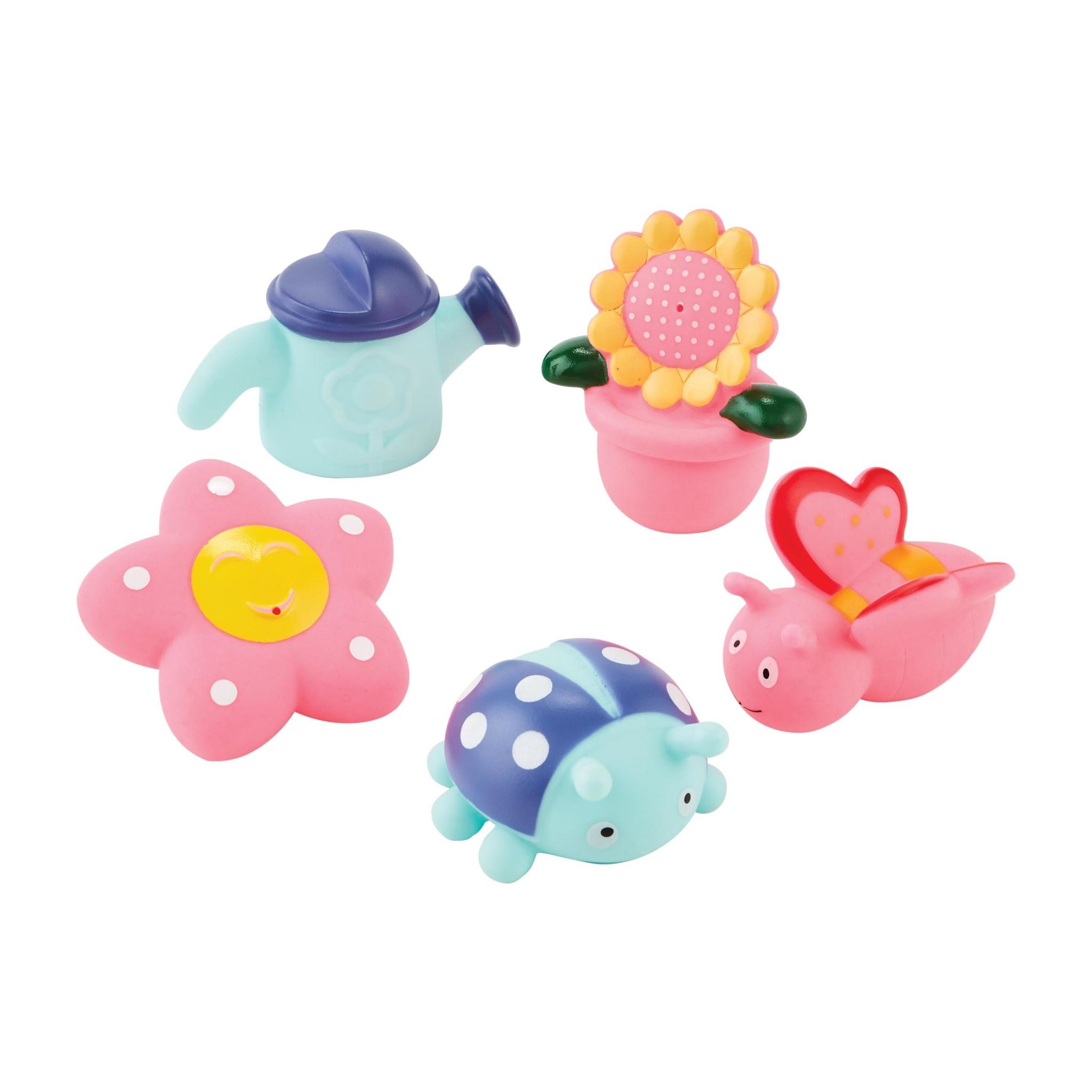 Mud Pie Garden Bath Toy Set