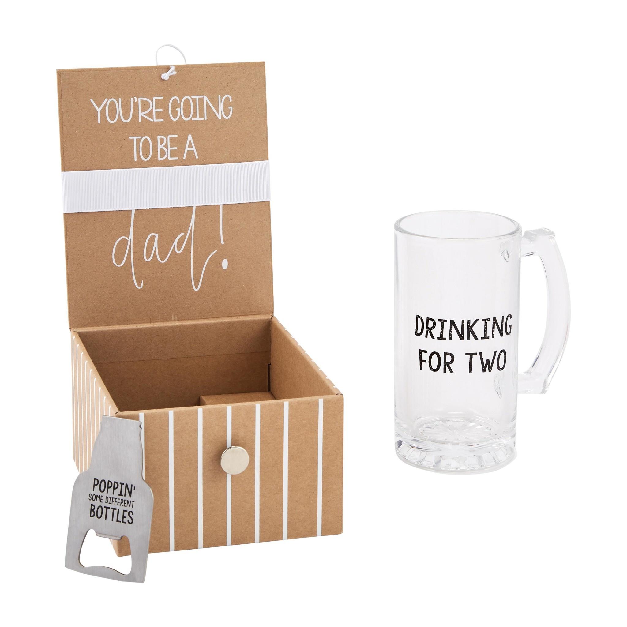 Mud Pie Dad Beer Baby Announcement Gift Set