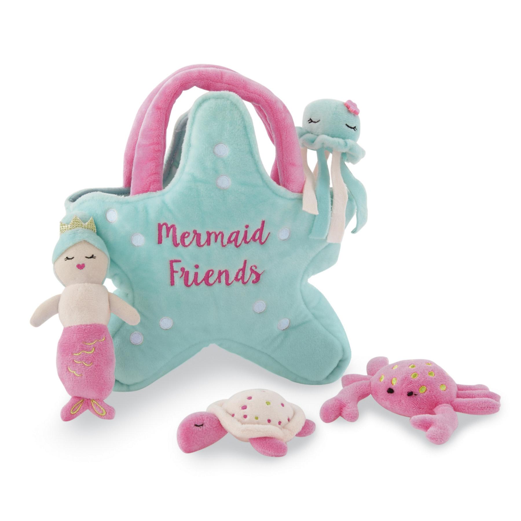 Mud Pie Mermaid Friends Plush Set