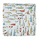 Mud Pie Fishing Muslin Swaddle Blanket