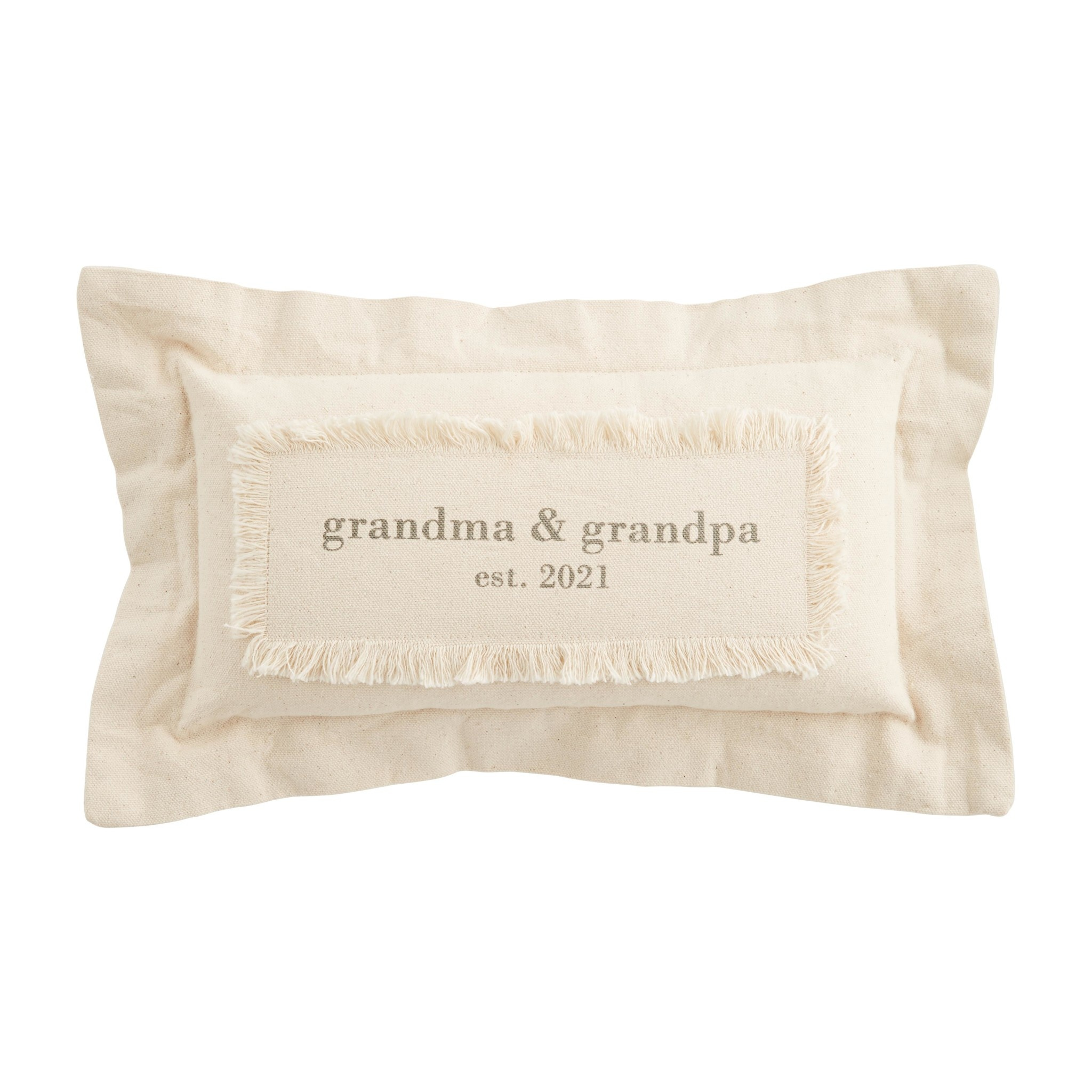 Mud Pie Grandparents Est. 2021 Pillow