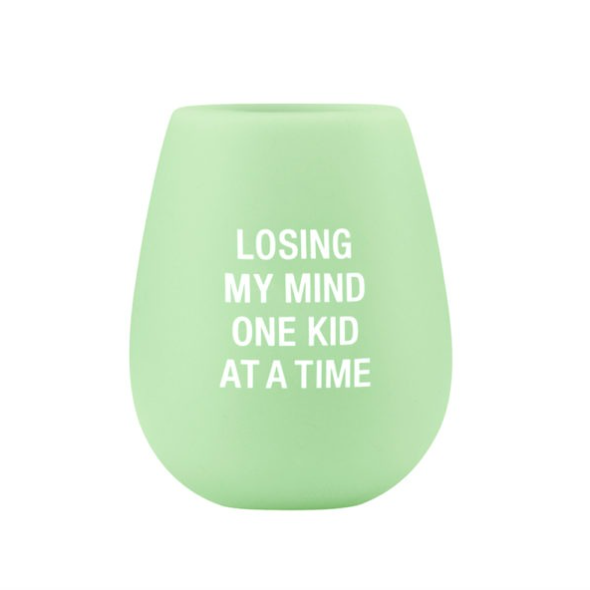 About Face Designs Losing My Mind Silicone Wine Glass