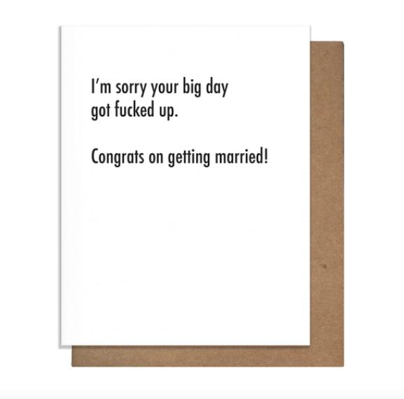 Pretty Alright Goods Big Day Wedding Card