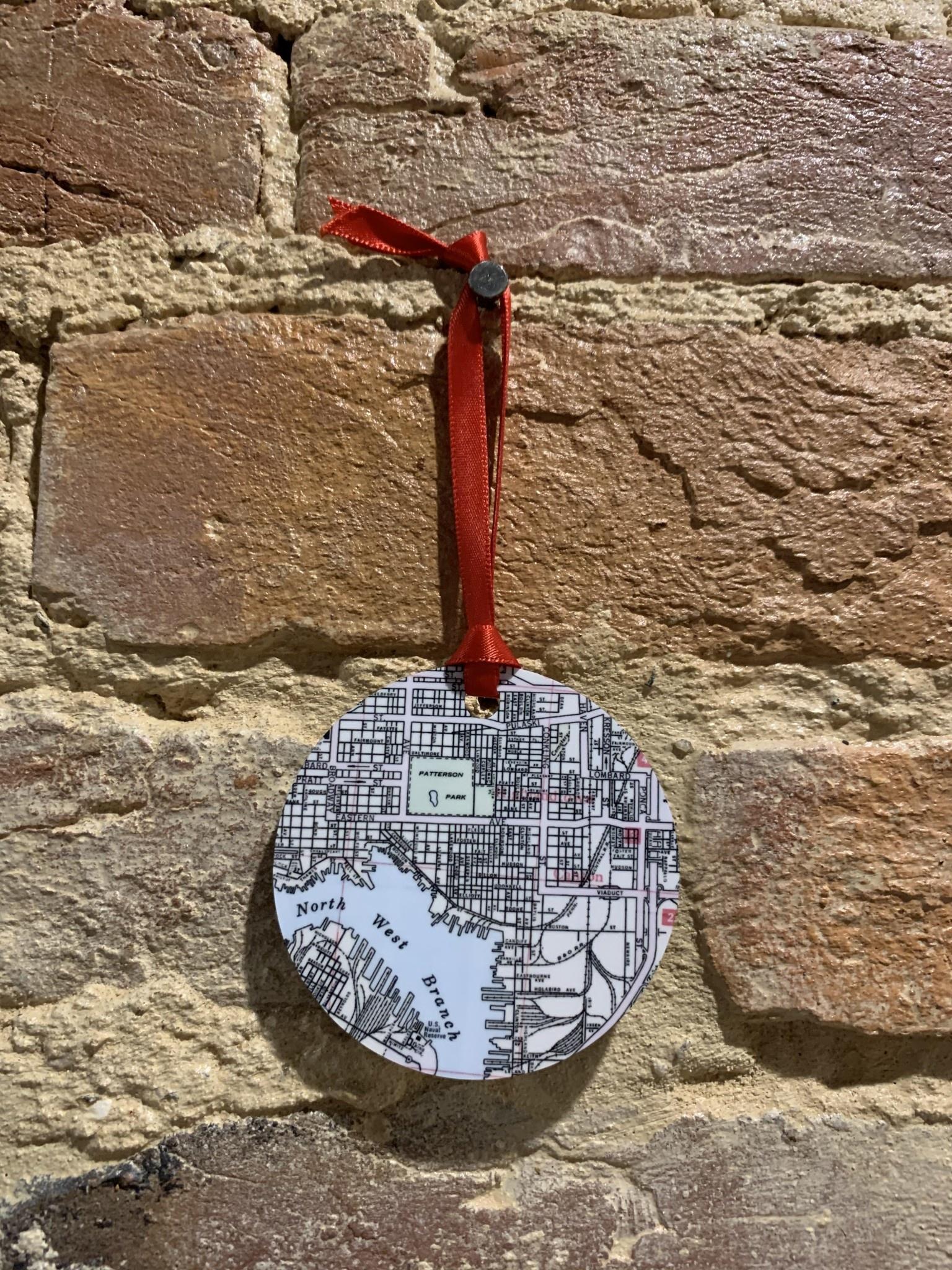 Daisy Mae Designs Canton Map Ornament