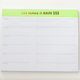 Chez Gagne Make it Rain Weekly Planner Notepad