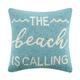 """Peking Handicraft Beach Is Calling Hook Pillow 16"""" x 16"""""""