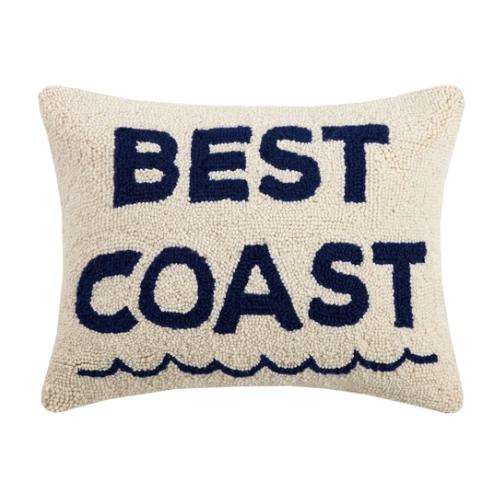 """Peking Handicraft Best Coast Hook Pillow 14"""" x 18"""""""