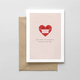 Spaghetti & Meatballs Don't Forget The Protection Valentine's Day Card