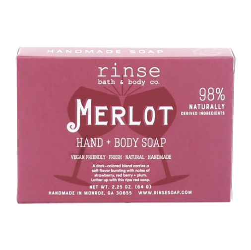 Rinse Bath & Body Merlot Mini Soap