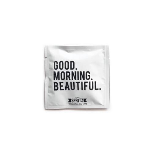 Happy Spritz Good Morning Beautiful Essential Oil Towelette