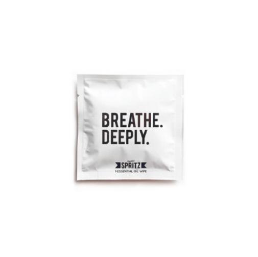 Happy Spritz Breathe Deeply Essential Oil Towelette