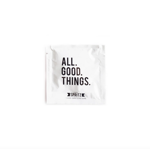 Happy Spritz All Good Things Hand Sanitizing Wipes