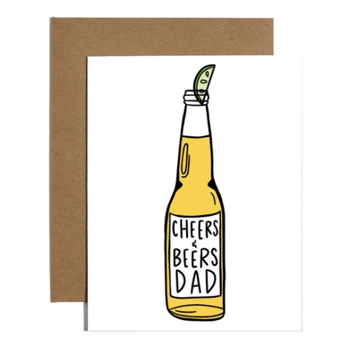 Brittany Paige Cheers and Beers Dad Card