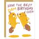 Egg Press Best Dam Birthday Card