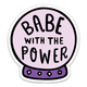 Brittany Paige Babe With The Power Crystal Ball Sticker