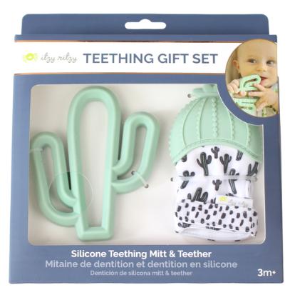 Itzy Ritzy Cactus Teething Mitt & Teether Gift Set
