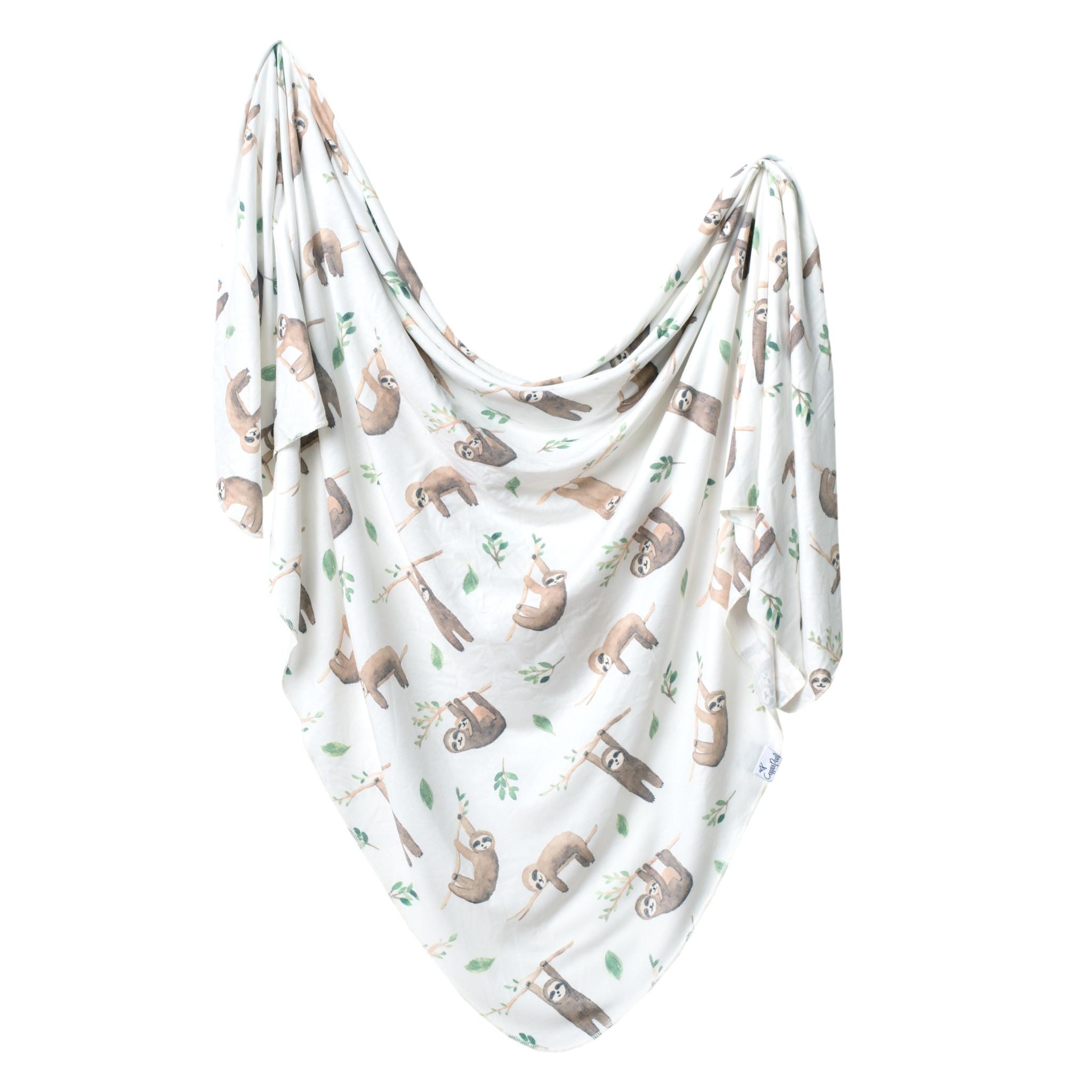 Copper Pearl Knit Swaddle Blanket Noah