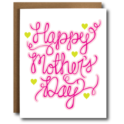 The Card Bureau Hand Lettered Mother's Day Card