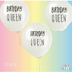 FUN CLUB Birthday Queen Balloon 3 Pack