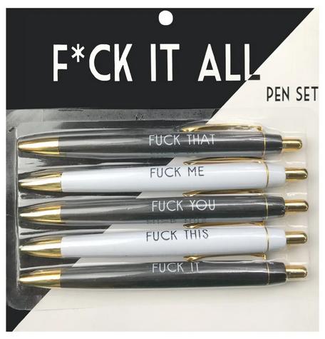 FUN CLUB Fuck it All Pen Set