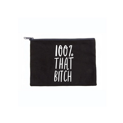 Brittany Paige 100% That Bitch Canvas Pouch