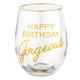 Creative Brands Happy Birthday Gorgeous Wine Glass