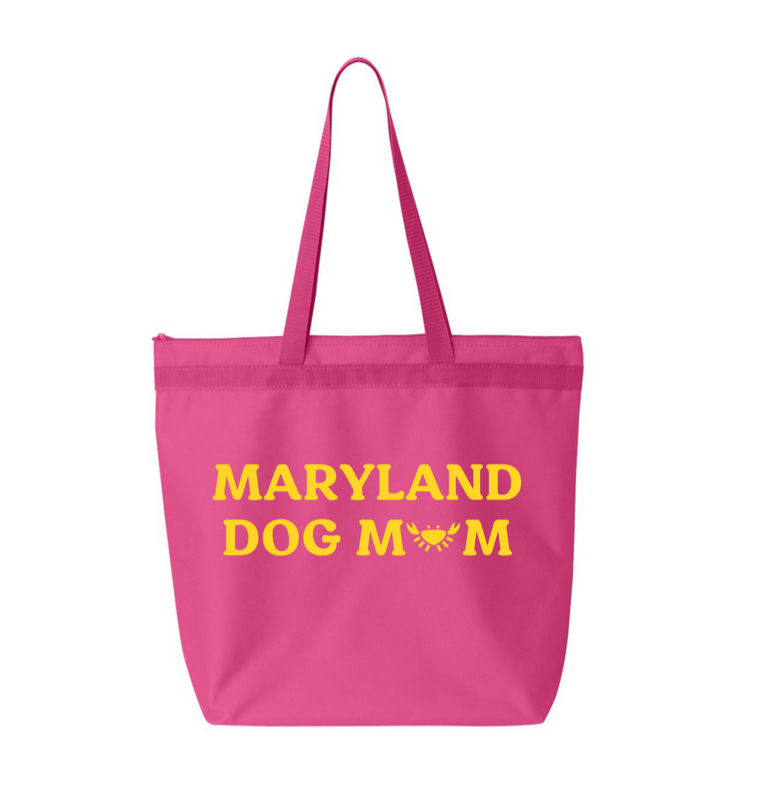 Dogs of Charm City Maryland Dog Mom Zipper Tote Bag