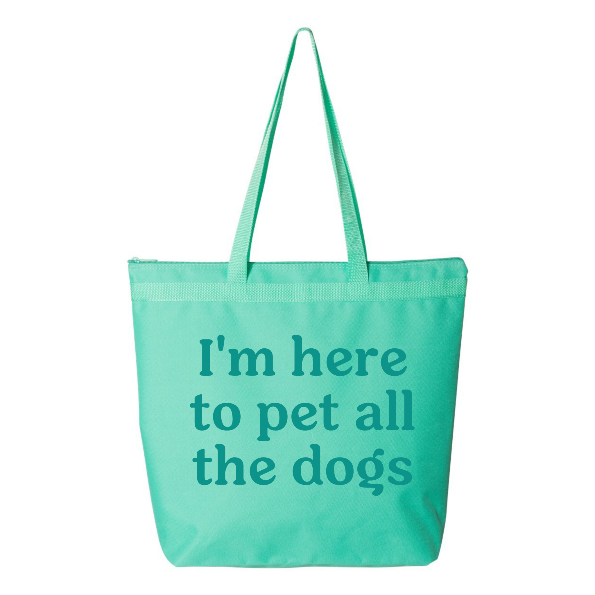Dogs of Charm City Here to Pet All the Dogs Zipper Tote Bag