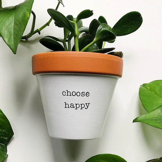 Rally & Roots Choose Happy Planter