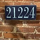 The Painted Mermaid 21224 Zip Code Sign - Navy/Light Blue
