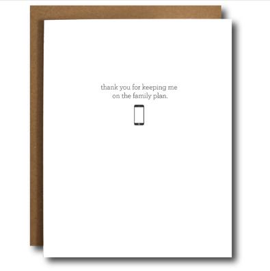 The Card Bureau Family Plan Father's Day Card