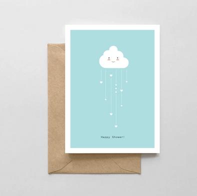 Spaghetti & Meatballs Happy Shower! Card