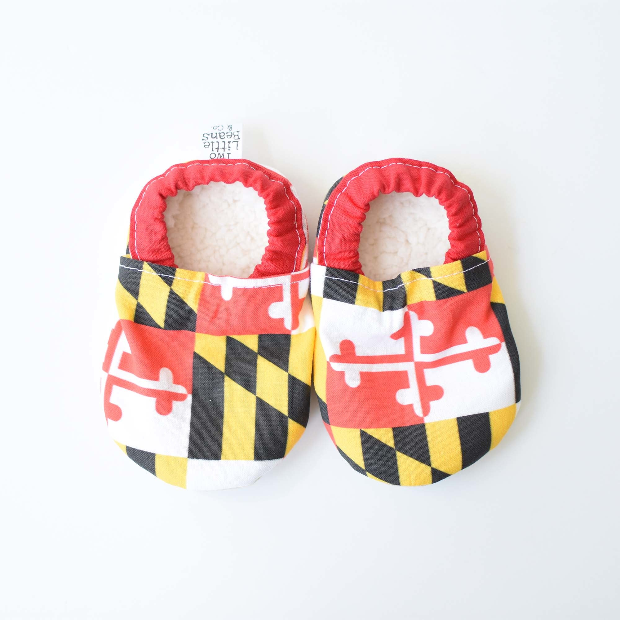Two Little Beans Maryland Flag Booties